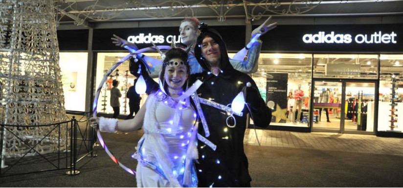 Shopping Centre Glow Show Christmas Activation