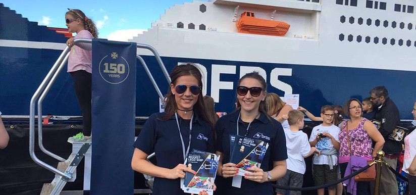 DFDS Giant LEGO Ferry Jubilee Seaways