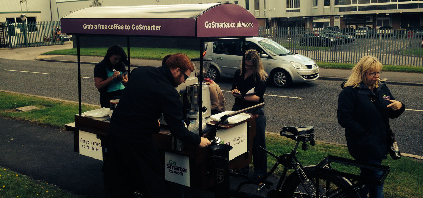 Go SMarter To Work Coffee Cart Activation