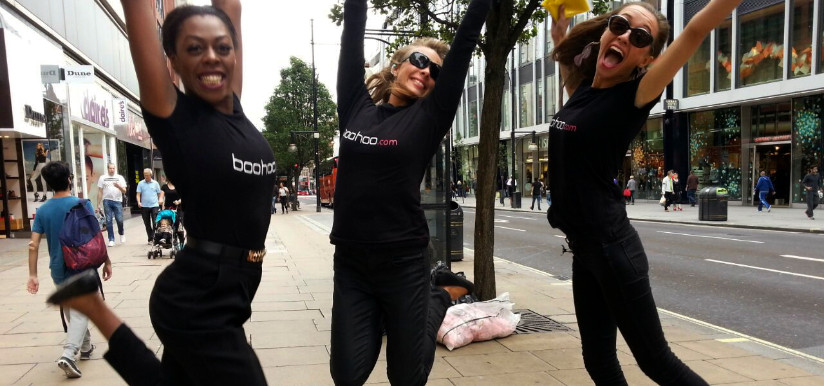 Boohoo Manchester Promotional Models