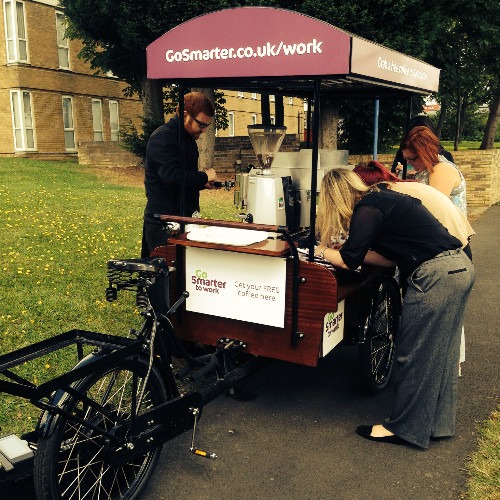 Go Smarter To Work Coffee Promotional Vehicle