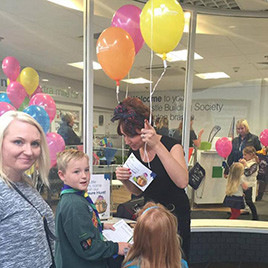 Newcastle Building Society Treasure Hunt and Balloons