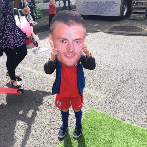 Jamie Vardy in Sunderland! Road Respect Euro 2016 Tour